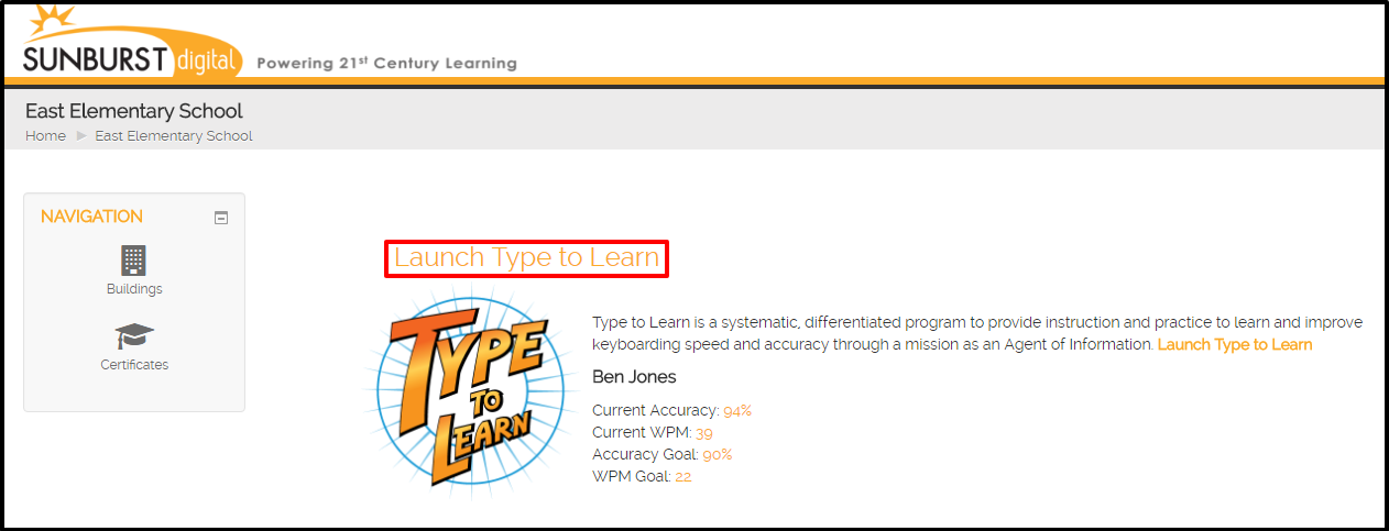 Type to Learn: School to Home \u2013 Sunburst Support
